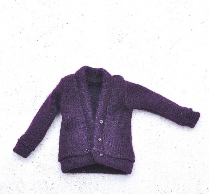 Blythe deep purple cardigan / fits for  Pullip, Licca, Azone