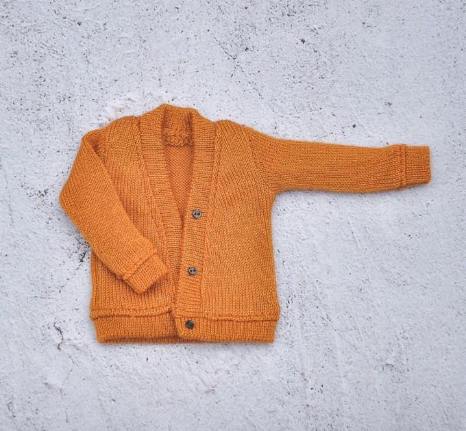 Blythe Dark orange Cardigan fits for  Pullip, Licca, Azone  -  Blythe  outfit