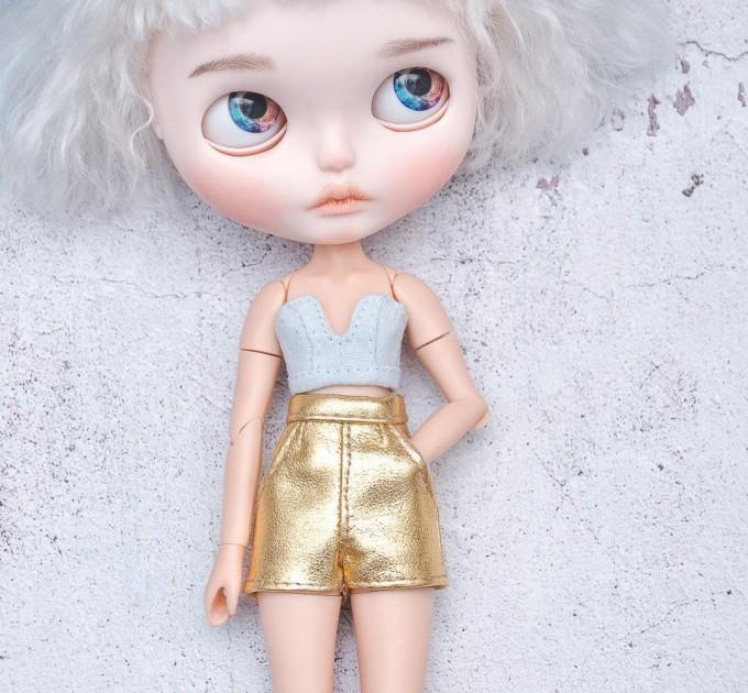 denim top for Blythe / corset, bra for Blythe doll