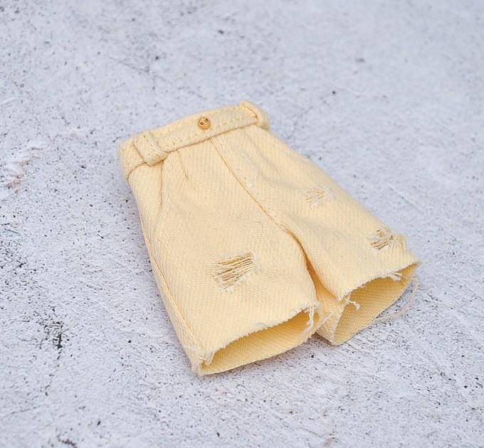 Blythe yellow denim shorts