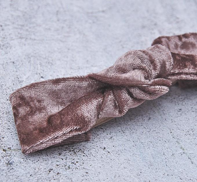 knotted umber velour  headband