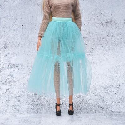 tutu mint skirt for Barbie doll