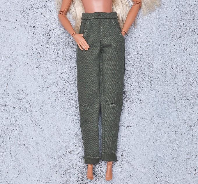 khaki jeans for Barbie doll