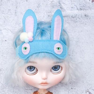 doll sleep mask/ Blythe felt bunny mask
