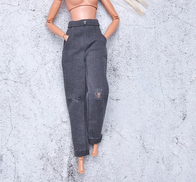 dark gray  jeans for Barbie doll