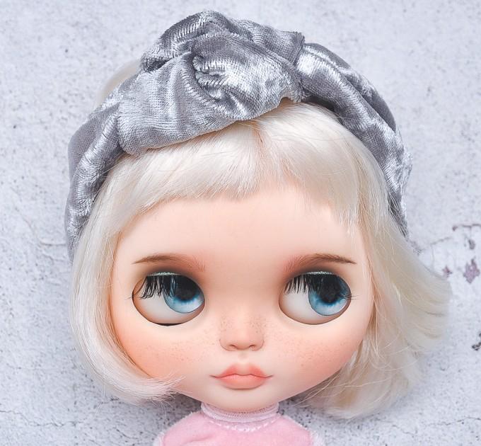 knotted gray velour  headband