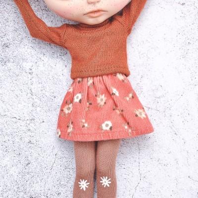Blythe printed velvet skirt