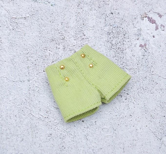 Green velvet doll shorts