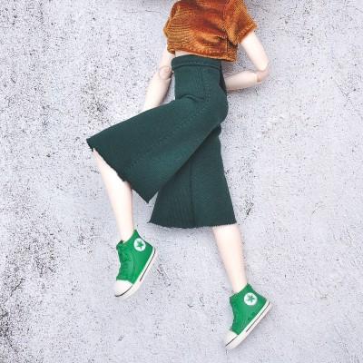 deep green  jersey culottes