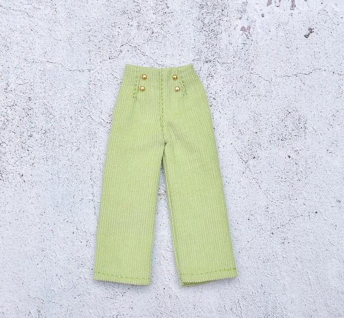 doll green velvet pants