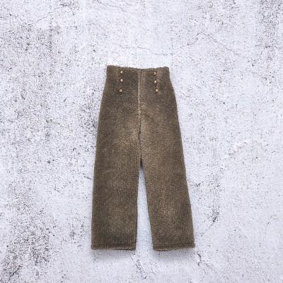 doll deep khaki velour pants