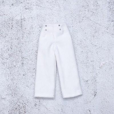 doll white velvet pants