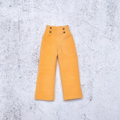 doll yellow velvet pants