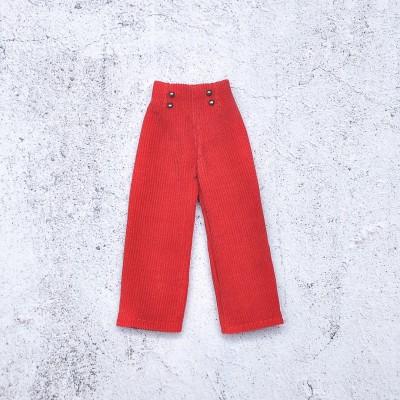 doll red velvet pants