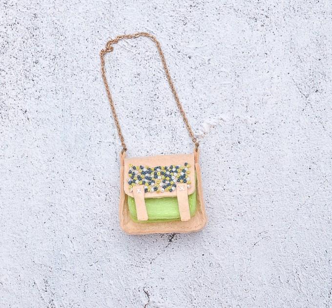 doll felt embroidered bag
