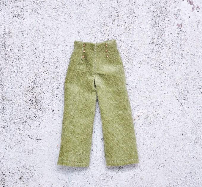doll green velour pants