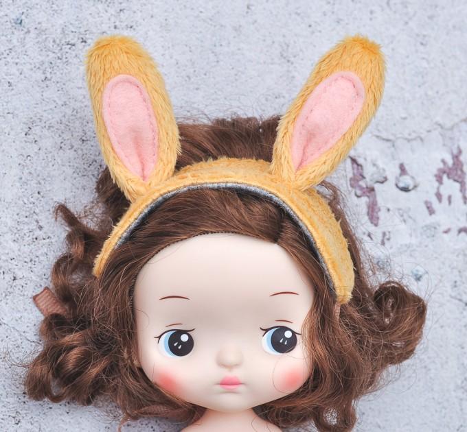 Blythe & Holala yellow bunny  headband