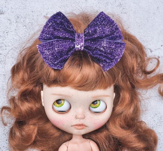 Blythe headband purple sparkle bow