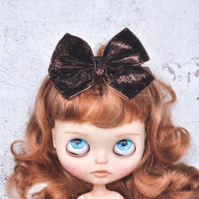 Blythe headband brown sparkle bow