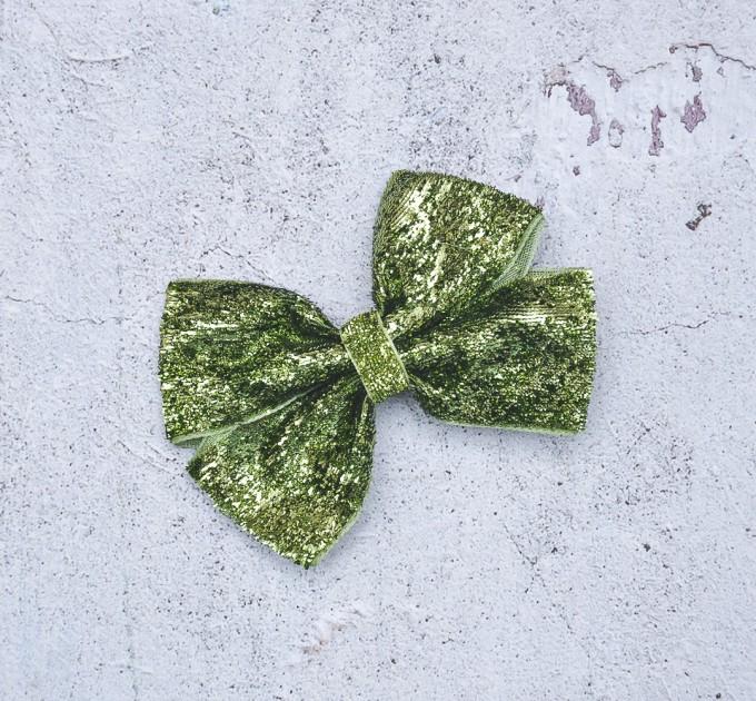 Blythe headband light green sparkle bow