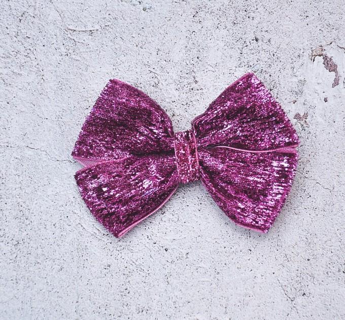 Blythe headband orchid sparkle bow