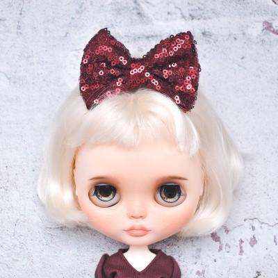 Blythe maroon sequin hairpin