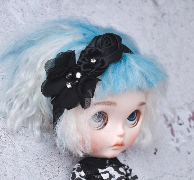 Blythe black floral headband