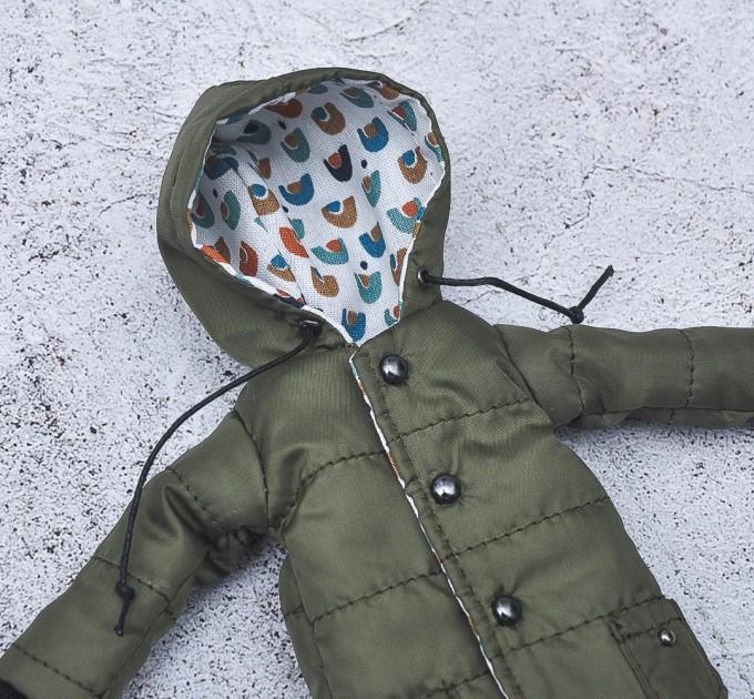 Blythe doll khaki winter coat