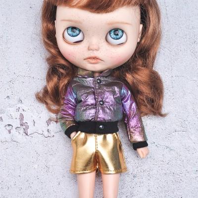 Blythe doll chameleon coat