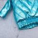 Blythe shiny bright blue winter coat