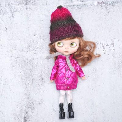 shiny blythe doll winter coat