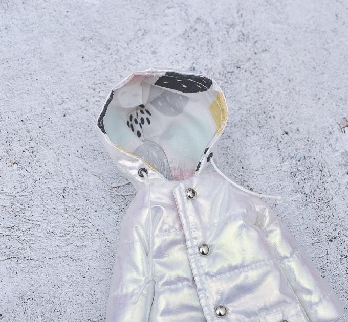 white pearl winter doll coat