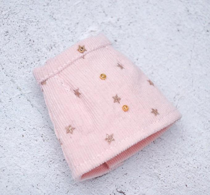 Blythe doll pink velvet skirt