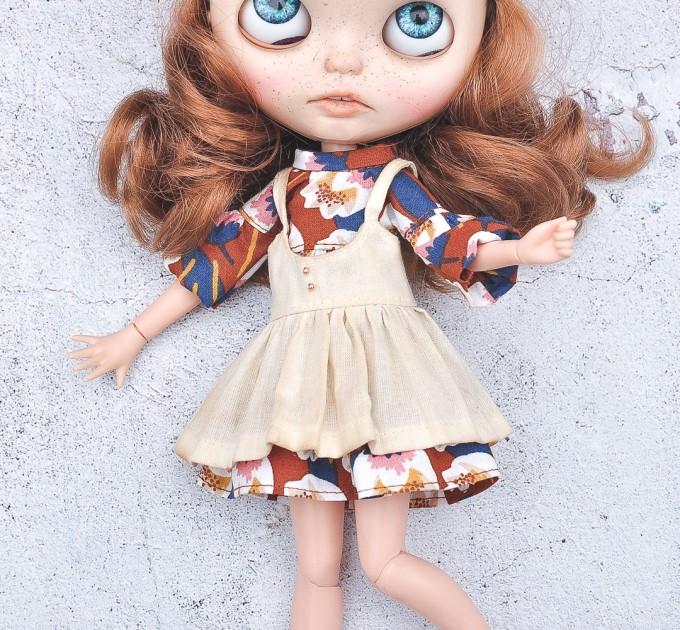 cotton dress for Blythe doll