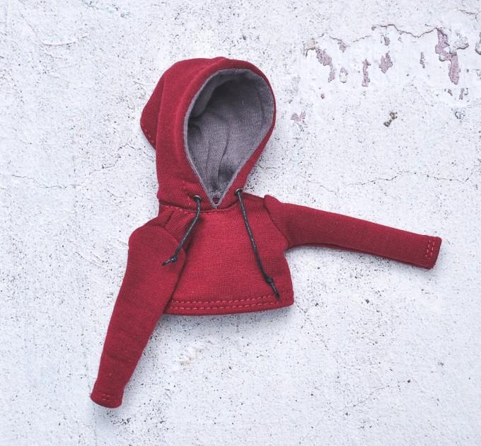 Blythe maroon hoodie / Pullip hoodie