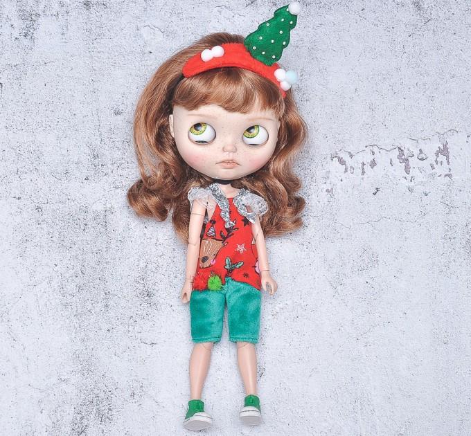 Christmas overall for doll