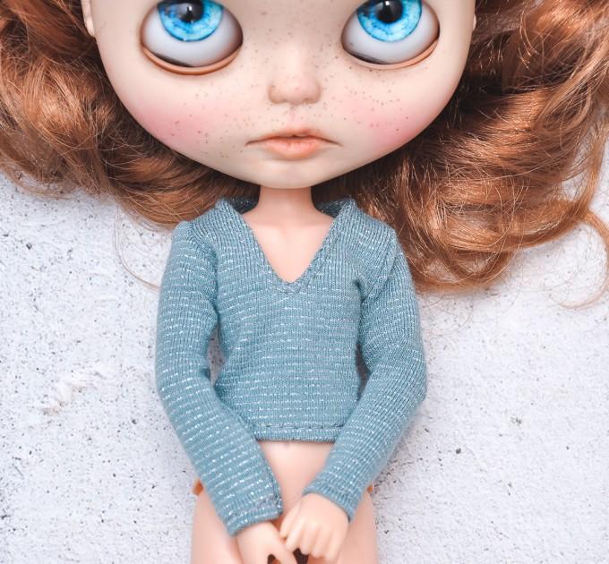 Blythe cornflower blue  blouse / Holala,  Pullip, Azone doll