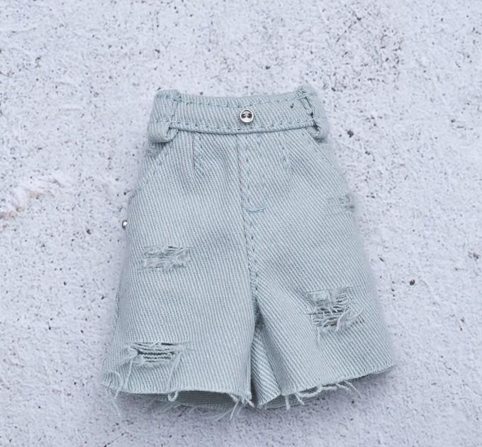 Blythe blue denim shorts / doll jeans / Azone and Pullip shorts