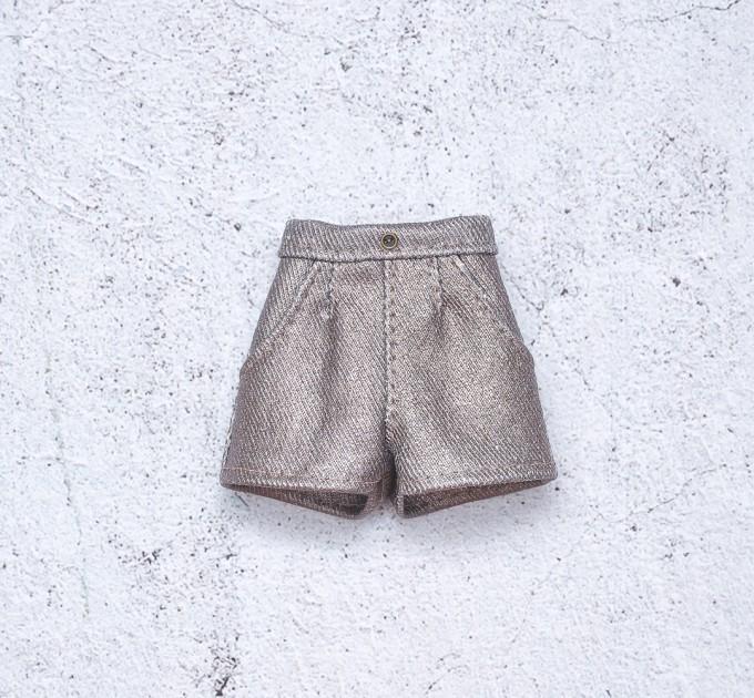 Blythe denim bronze shimmering shorts