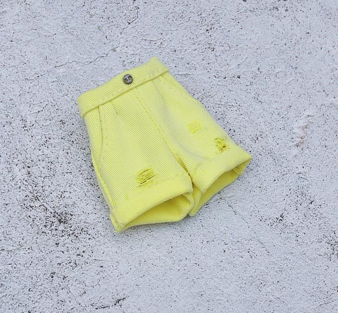 Blythe neon lemon denim shorts