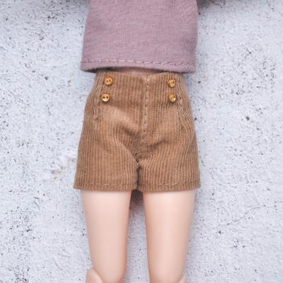 Blythe velvet shorts