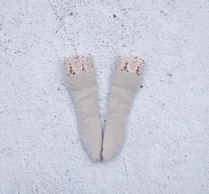 Blythe cream socks / Holala, Pullip socks / doll clothes