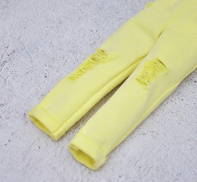 Blythe bright lemon ripped jeans